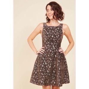Modcloth Nwot Genuine Joy Jacquard Dress Xs d4